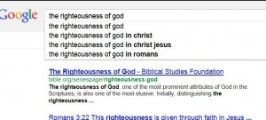 Google Righteousness